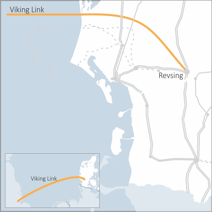 Map showing Viking Link